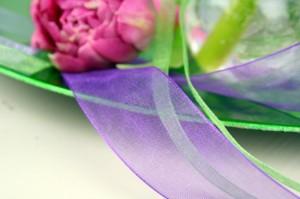 Deko Organzaband lila 100dpi 300x199 Am liebsten mit Organzaband dekoideen